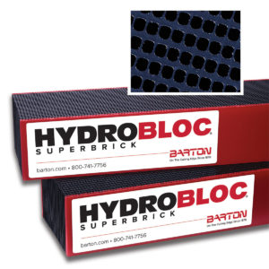 Waterjet cutting bricks provide excellent performance - Barton's HYDROBLOC Superbrick