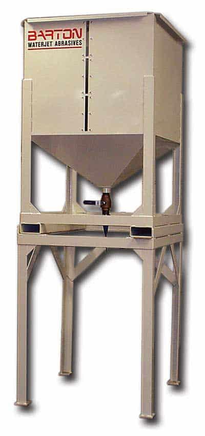 Barton's Garnet Abrasive Transfer Hopper
