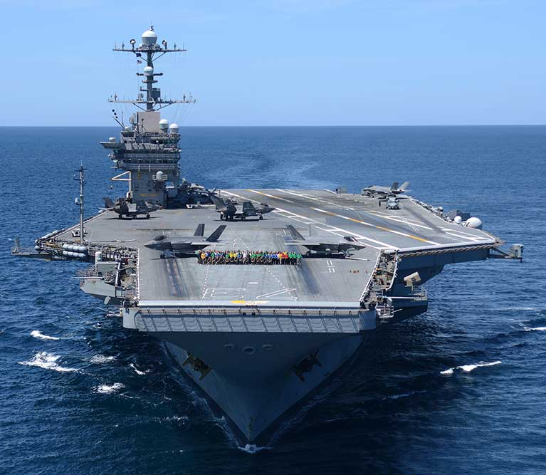 USS George Washington (CVN-73) transits the Atlantic Ocean (U.S. Navy photo).