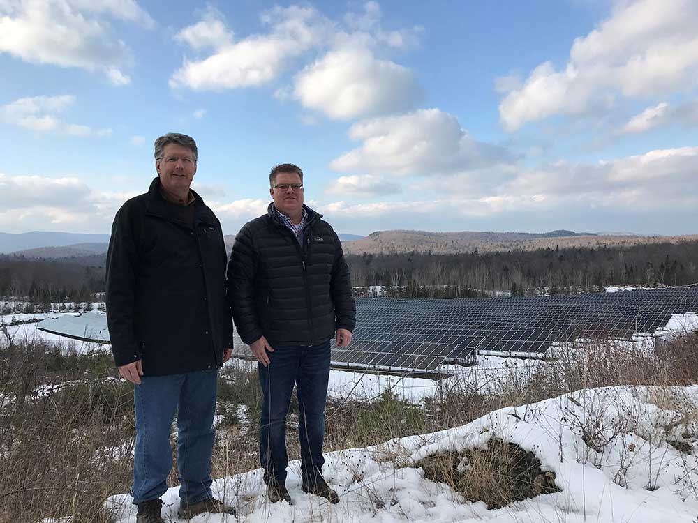 Chuck Barton and Rich Jenks at site of Solar Farm